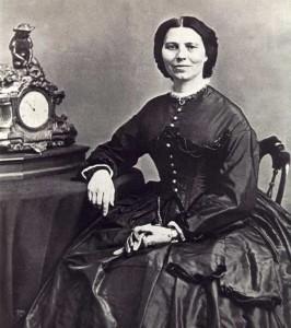 Clara Barton circa 1865 (Photograph by Matthew Brady)