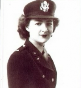WWII Nurse Nellie Beatty in uniform