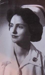 Margie Oppenheimer as nurse after WWII (AP Photo/Courtesy Margie Oppenheimer)