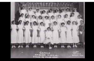 Alberta Hunter and her nursing school classmates