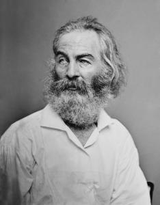 Walt Whitman (photograph by Matthew Brady)
